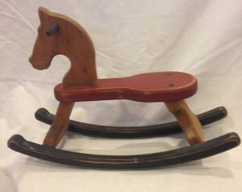 Adorable Tiny Woden Rocking Horse