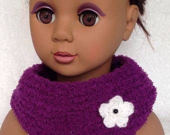 Purple Snood for little girl from 3 months