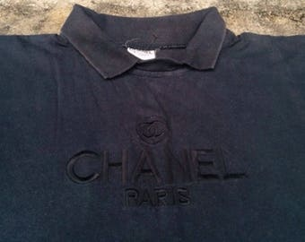 Vintage 90s CHANEL Boutique crop Shirt size M