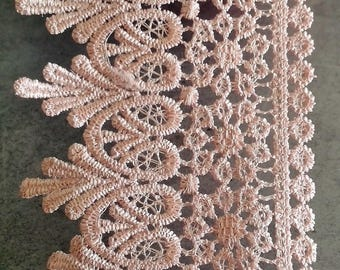 Old pink cotton polyester lace