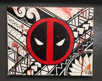 Marvel Deadpool Poly Acrylic Painting on Canvas