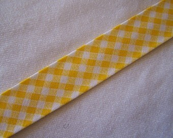 Through yellow gingham, width 40/20 mm (Bi-5177)