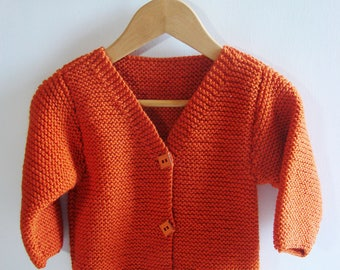 Vest for baby - Biscuit - bright Orange - size 3-6 months
