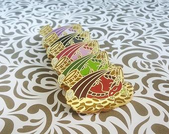 Five Color Dragon Pin Enamel Pin Collection