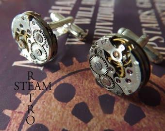 Retro Steampunk cufflinks 16mm buttons