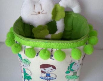 Baby Rattle storage basket set