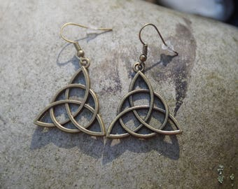 Bronze earrings triangular