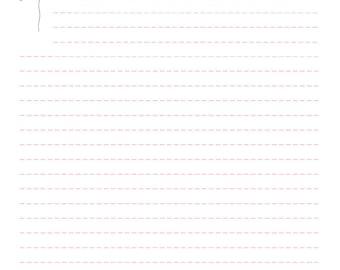 A5 theme kawaii Alpaca letter paper