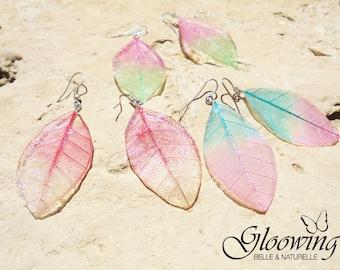Set earrings woman butterfly wings.