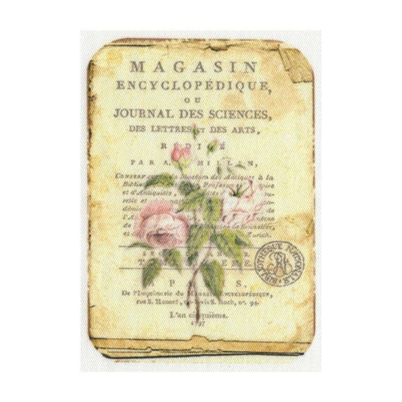 """Applied fusible - Collection """"Old Rose"""" AT406-8"""