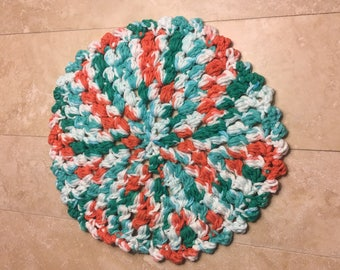 Large circle crocheted trivet