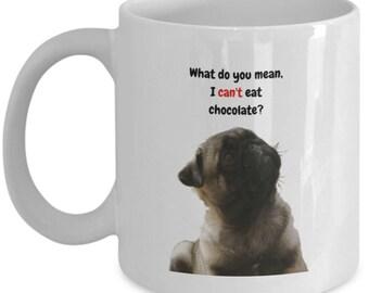 pug mug - ceramic novelty dog coffee mug