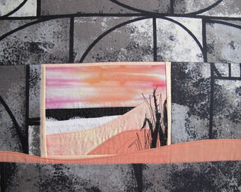 Creating art textile sea