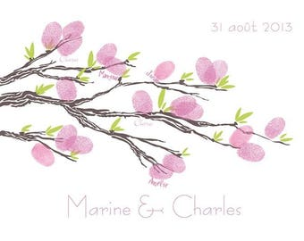 Fingerprint wedding tree / 32x24cm / 20-25 prints
