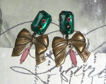 Victorian bow earrings