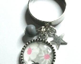 Ring charm liberty Mitsi gray