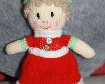 Hand knitted wool doll