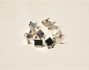 Set of 10 caps silver claw clip