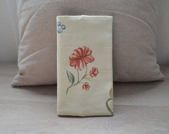 checkbook flower pattern linen fabric