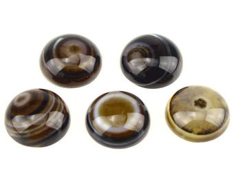 set of 2 cabochon agate 16 mm a