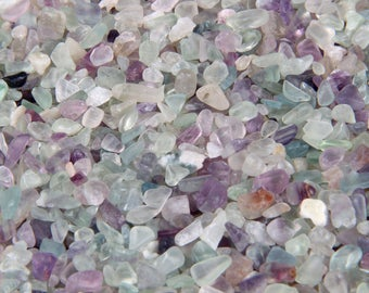 38 gr drilled FLuorite chips beads
