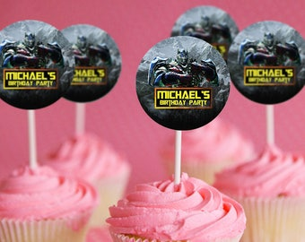 Transformers Party Supplies   Transformers Cupcake Toppers   Transformers Party Favors   Transformers Birthday Decorations