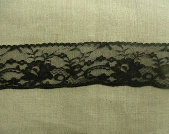Black - 6 cm lace polyester