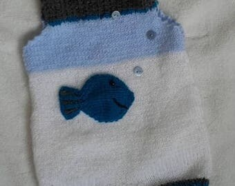 Wool newborn baby overalls/romper