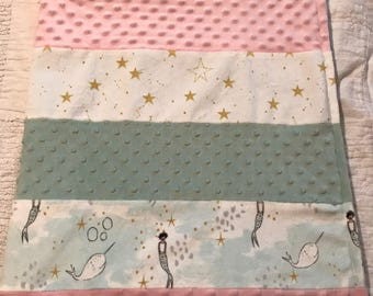 Magical mermaid Minky quilt