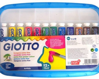 Box of 12 tubes of gouaches - GIOTTO - extra fine