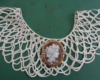 French antique lace collar, style France Chanel, Chanel, collar art deco style vintage collar, old lace collar, crazy, jabot.老领 years