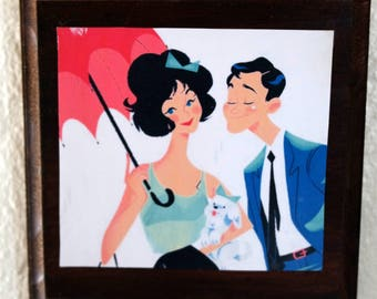 Sweet Wall Art Plaque - Vintage Couple