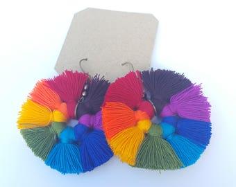 Circular Rainbow Earrings