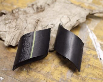 Rubber Bike Tube Earrings