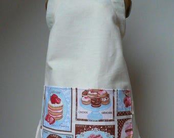 Beige child's baking apron