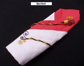 decorative towel yellow & Black