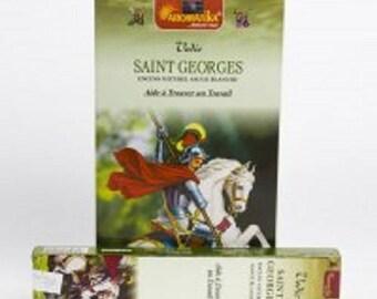 Box of 15 gr Aromatika Saint Georges work white Sage incense sticks