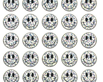 STICKERS SCRAPBOOKING STICKERS SMILEYS silver means Board 13 cm x 10 cm