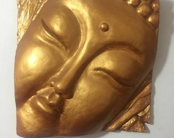 Buddha wall relief