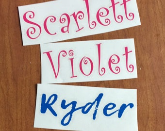Custom Word Vinyl Stickers