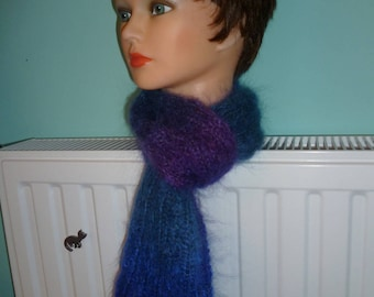Scarf fluffy mohair in a subtle gradation of colors