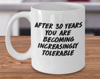 funny 30th anniversary coffee mugs, 30 year anniversary mug, 30th anniversary, 30th anniversary gift, 30th anniversary mugs, 30 anniversary