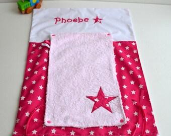 Mattress cover diaper sponge made handmade stars pink and white @lacouturebytitia