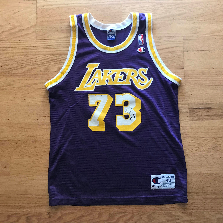 39c200e6 ... usa vintage champion dennis rodman los angeles lakers nba basketball  jersey 73 size m 3d112 1ac92