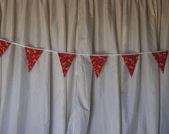 Top quality fabric double sided bunting available in 10m and 5m lengths various patterns - bespoke bunting made to order