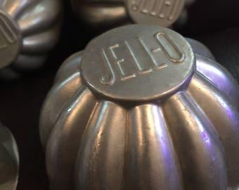 VIntage Jello Molds, Set of Five, Melon Shape