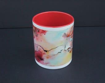 Mug flight - ceramic from my watercolor