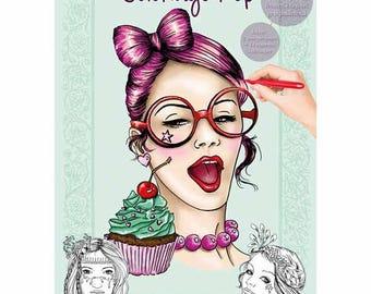 Cahier de coloriage Thème Femmes POP