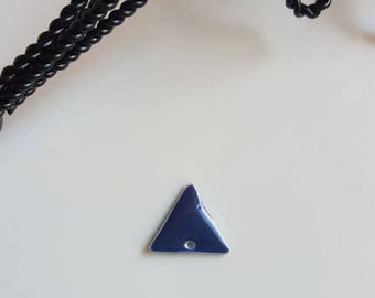 Sequin blue and silver triangle shape