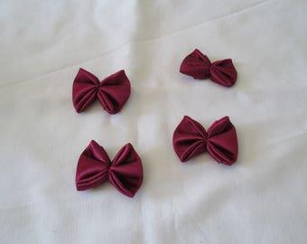 set of 4 satin bows